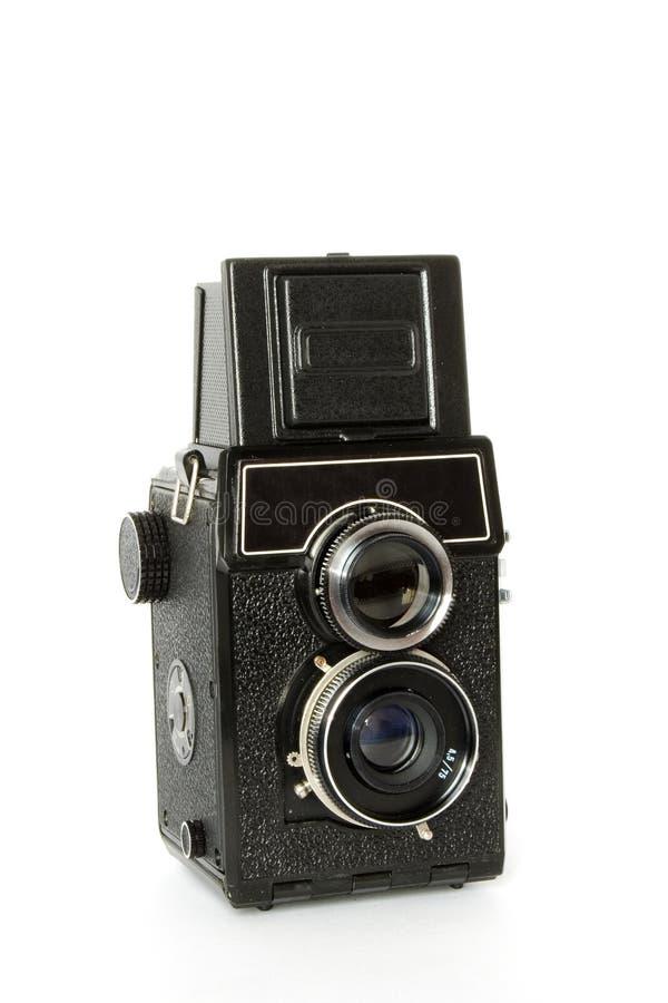 Oude tweeling-lens reflexcamera stock afbeelding