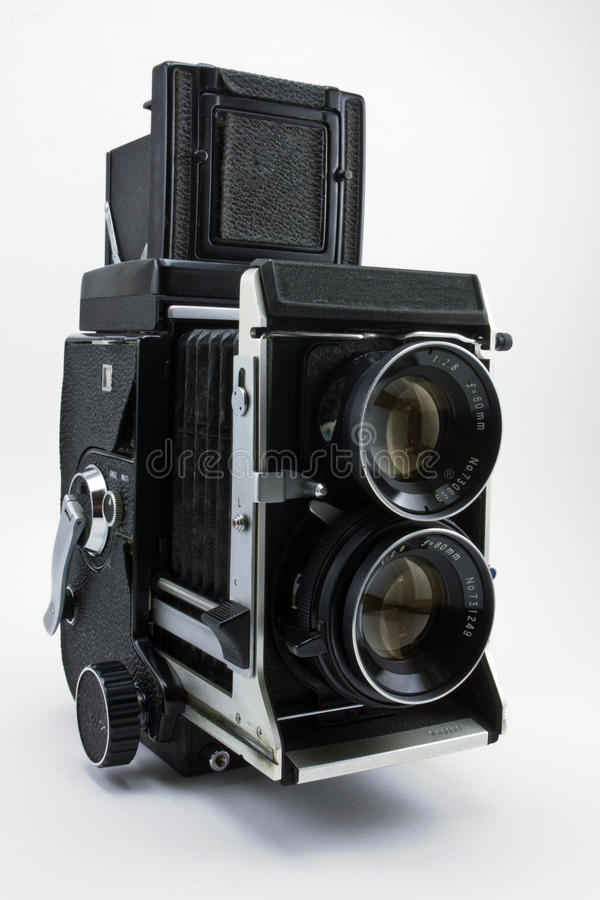 Oude tweelinglens refleks camera stock foto's