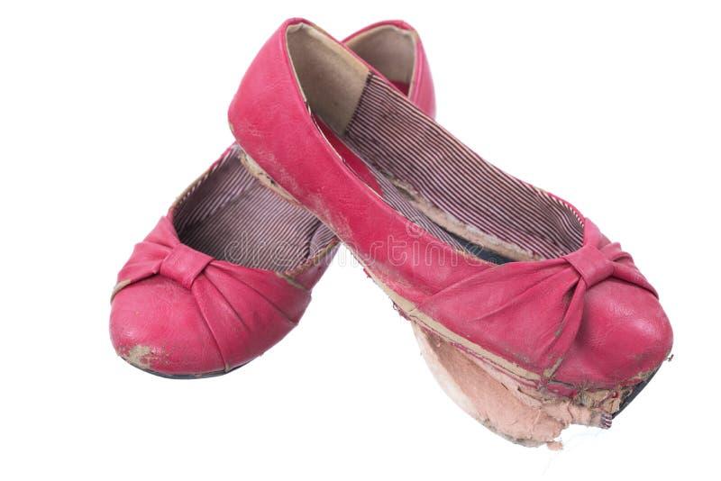 Oude uitgeputte schoenen royalty-vrije stock fotografie