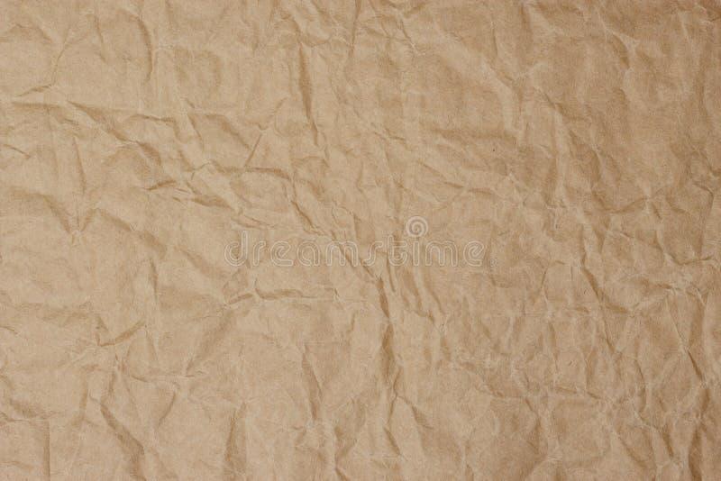 Oude uitstekende bruine paginadocument textuur of achtergrond stock fotografie