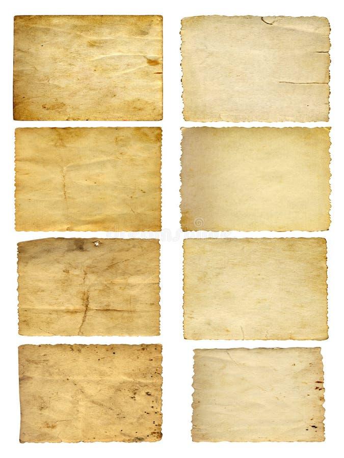 Oude uitstekende document geplaatste banners royalty-vrije stock afbeeldingen