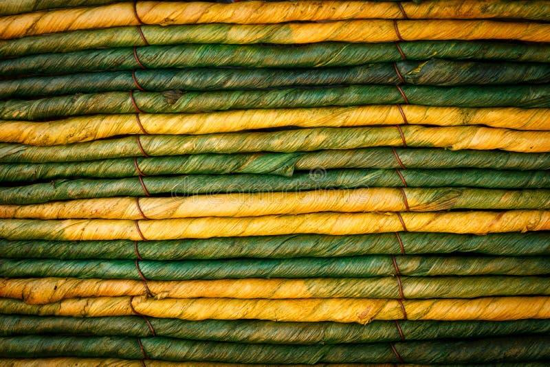 Oude uitstekende groene Kabel stock foto