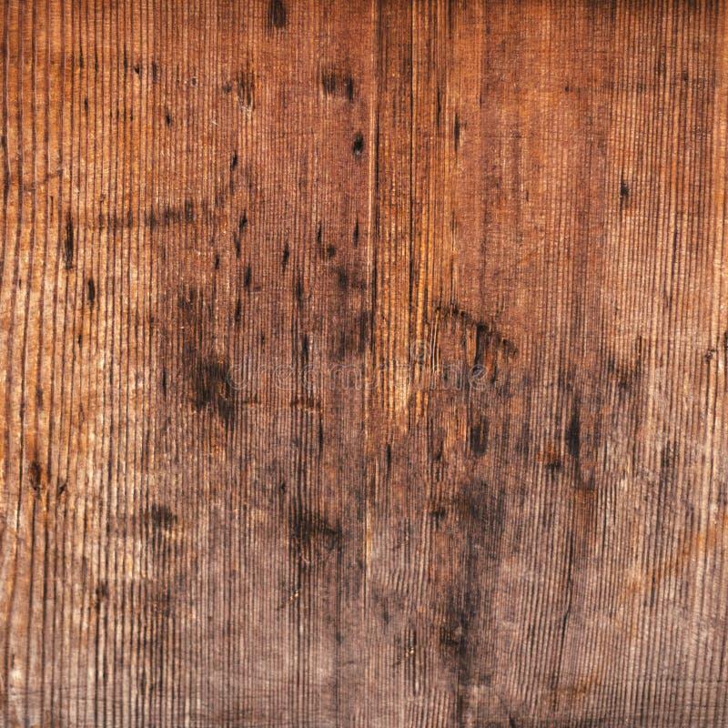 Oude uitstekende houten textuur met scrathes - Bruine Houten bruine gr. royalty-vrije stock foto