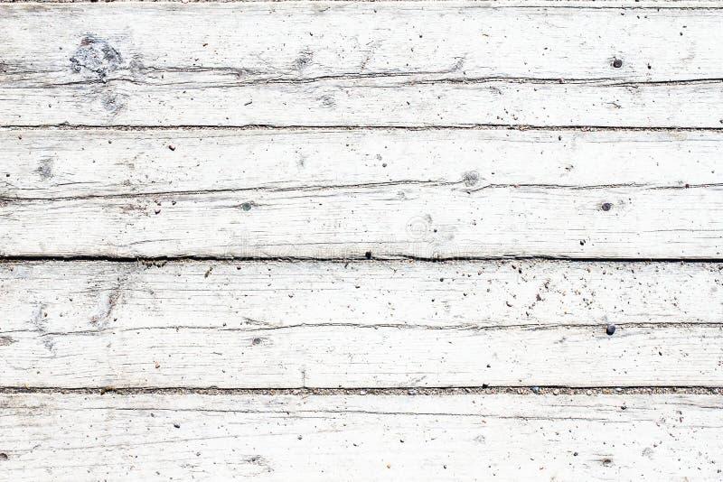 Oude uitstekende houten witte achtergrond, lijst of vloer royalty-vrije stock afbeeldingen