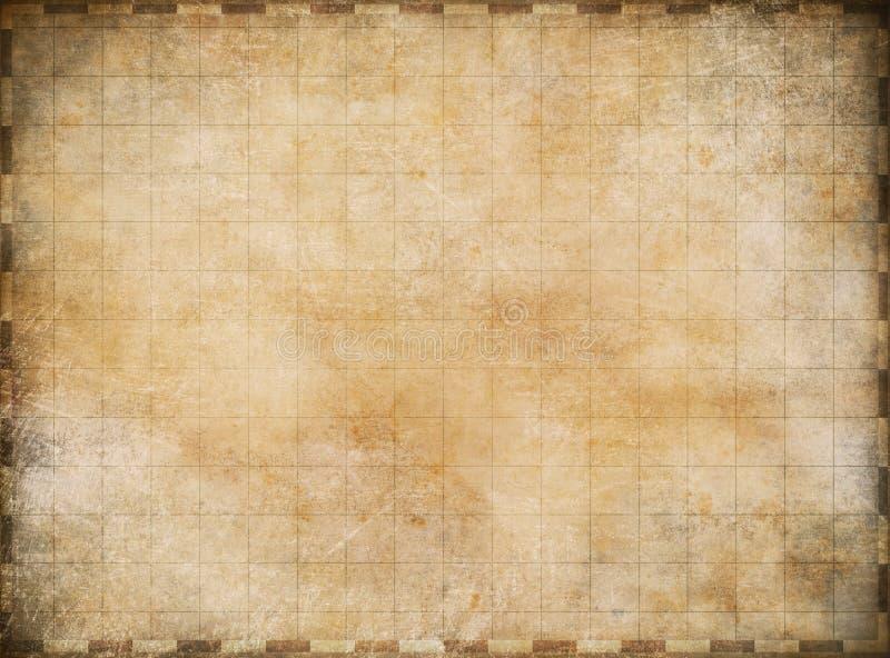 Oude uitstekende kaartachtergrond vector illustratie