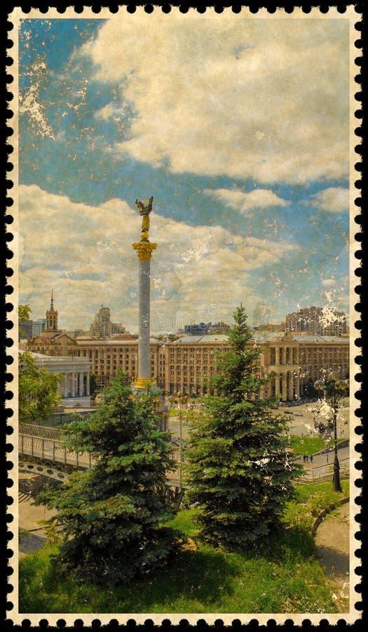 Oude Uitstekende postzegel vector illustratie