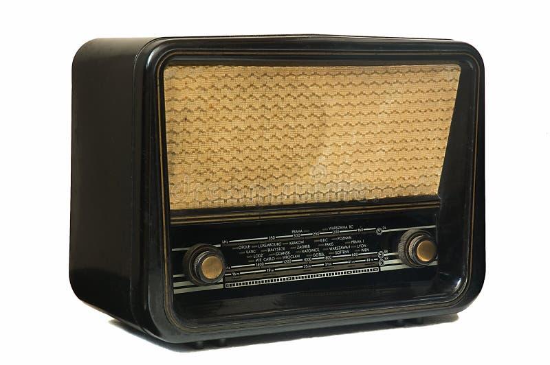 Oude uitstekende radio stock afbeelding