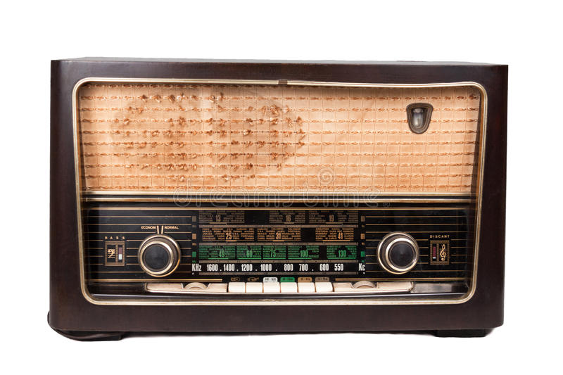 Oude uitstekende radio stock fotografie
