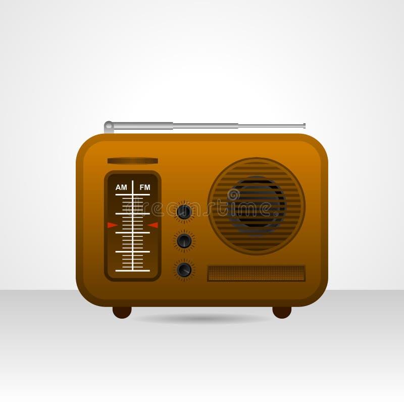 Oude uitstekende radio vectorillustratie stock illustratie