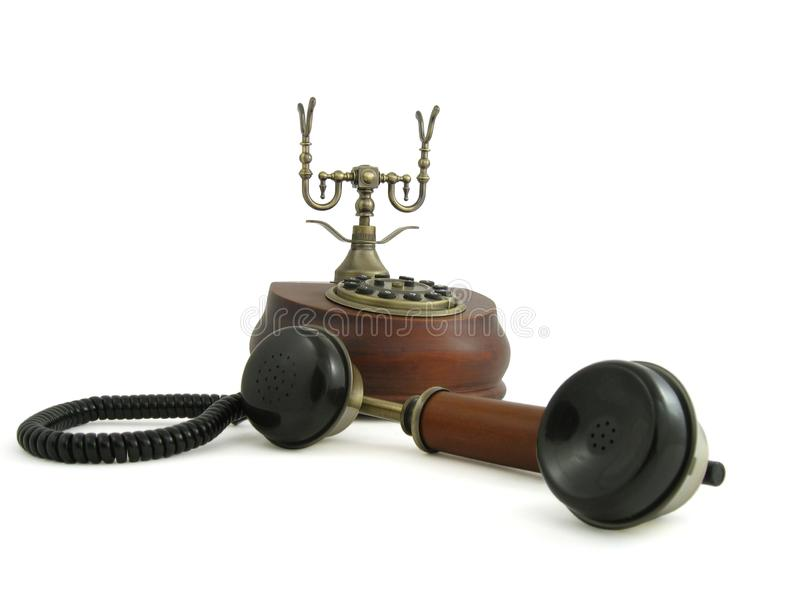 Oude uitstekende telefoon stock fotografie