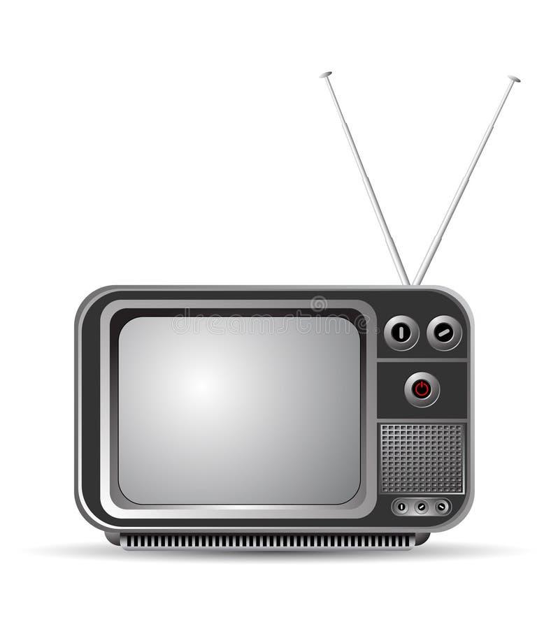 Oude uitstekende TV stock illustratie