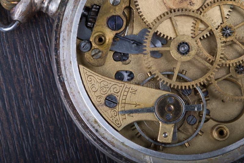 Oude uurwerk dichte omhooggaand stock foto