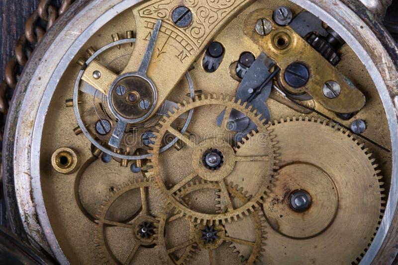 Oude uurwerk dichte omhooggaand stock afbeeldingen