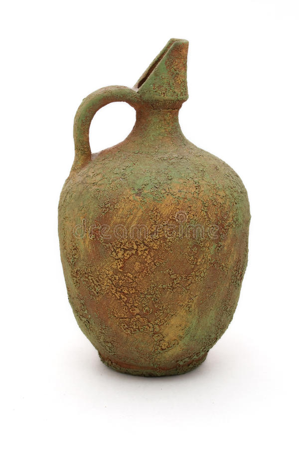 Oude vaas stock afbeelding
