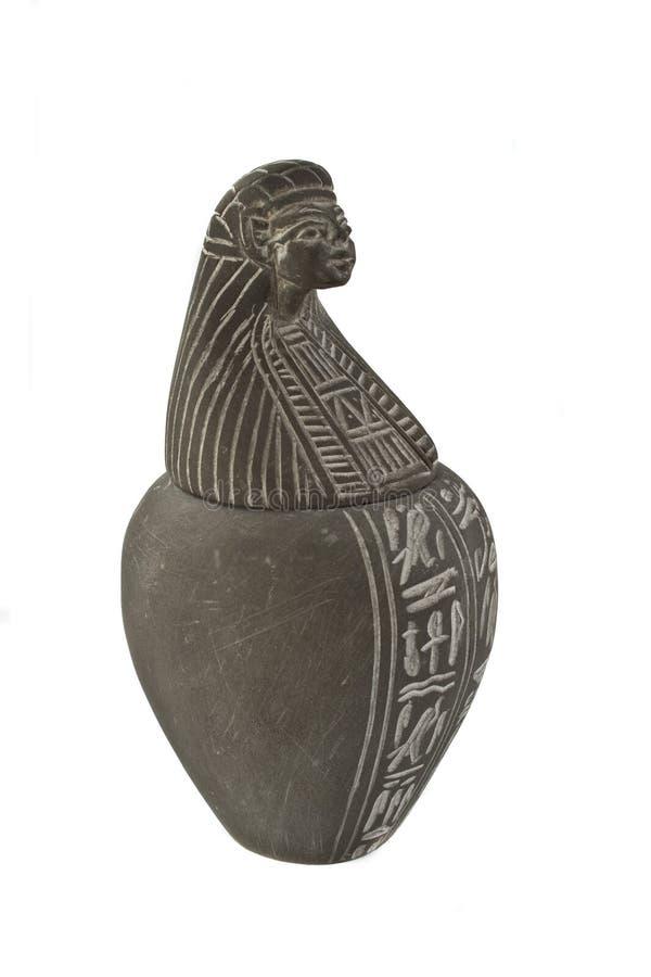 Oude vaas van Egypte stock afbeeldingen