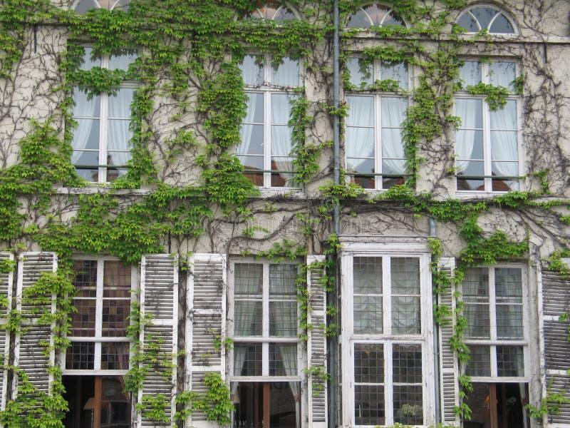 Oude vensters stock afbeeldingen