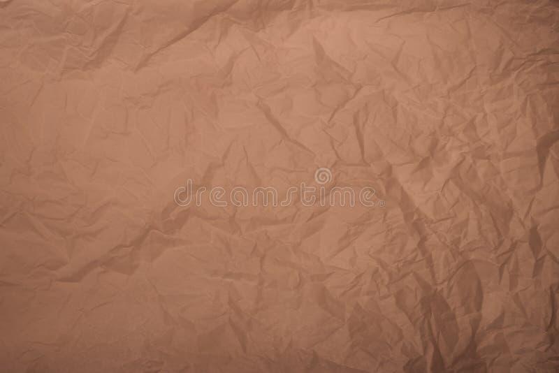 Oude verfrommelde duidelijke verpakkend document textuurrug stock foto