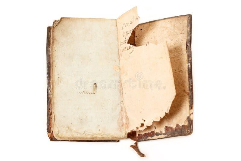 Oude verouderd van het boek stock afbeeldingen