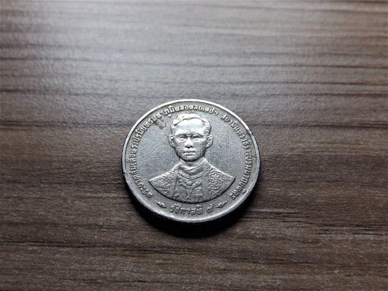 Oude versie van een 5 Thais badmuntstuk royalty-vrije stock fotografie