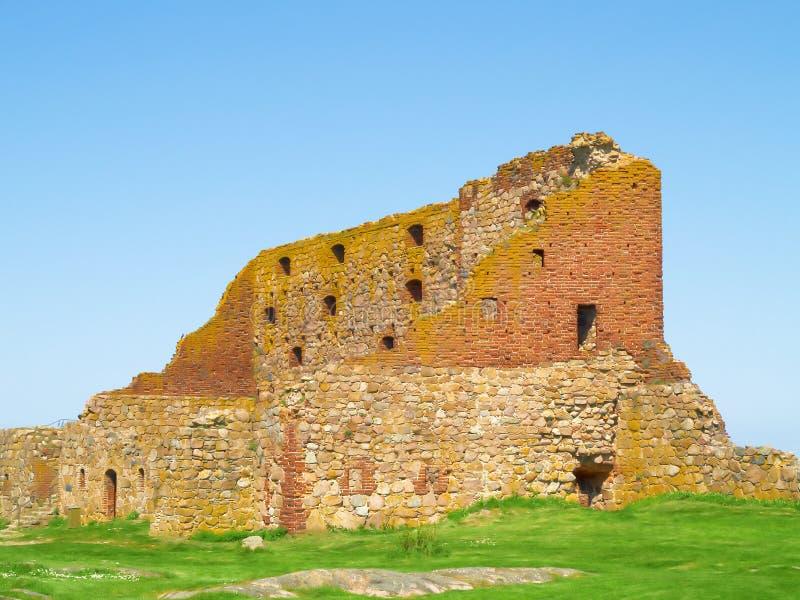 Oude vesting Hammershus, Bornholms, Denemarken royalty-vrije stock afbeeldingen