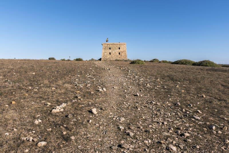Oude vesting van het Eiland Tabarca stock afbeelding