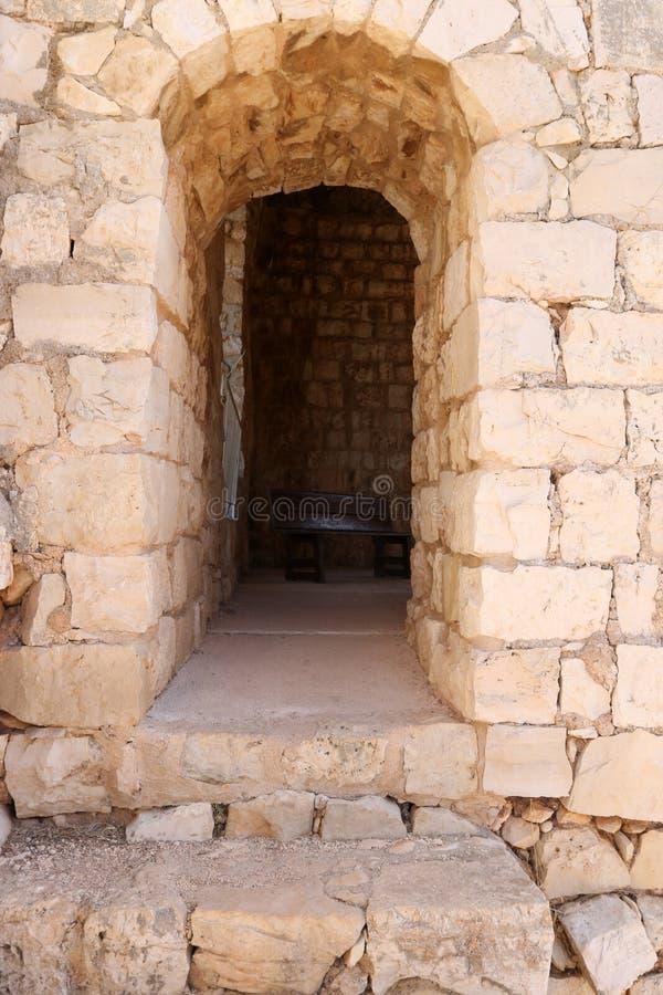 Oude vesting Yehiam stock foto