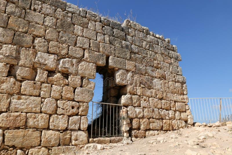 Oude vesting Yehiam stock afbeeldingen