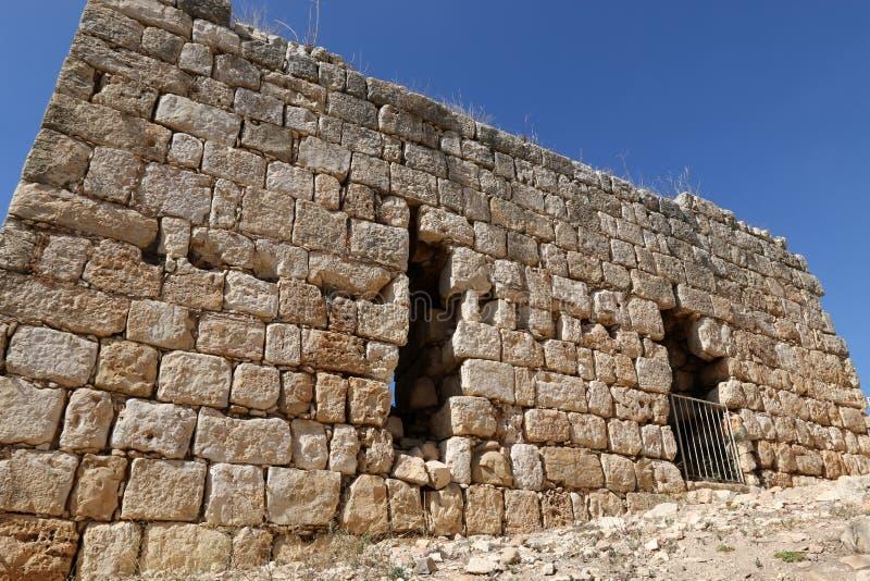Oude vesting Yehiam royalty-vrije stock afbeeldingen