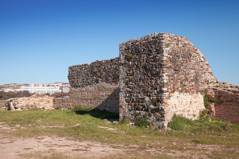 Oude vestingsruïnes in Tanger, Marokko stock foto
