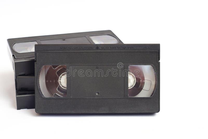 Oude vhs videocassettes royalty-vrije stock fotografie