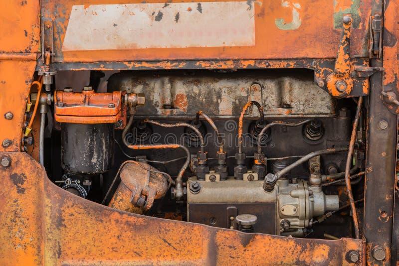 Oude vier cilindersmotor stock afbeeldingen