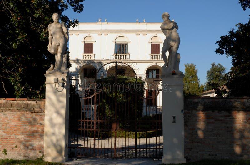 Oude villa in Riviera del Brenta in de provincie van Venetië (Italië) royalty-vrije stock afbeeldingen