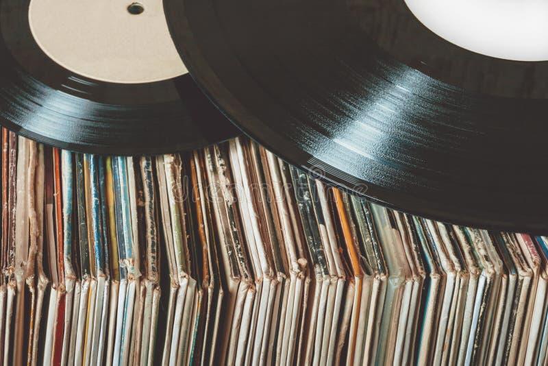 Oude VinylVerslagen royalty-vrije stock foto