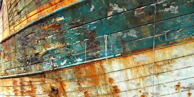 Oude vissersboot, Camaret royalty-vrije stock foto
