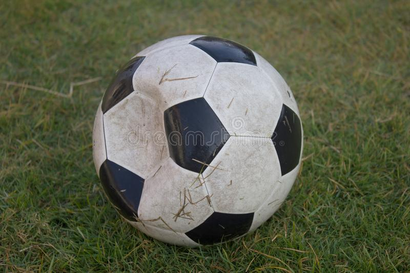 Oude voetbal stock foto