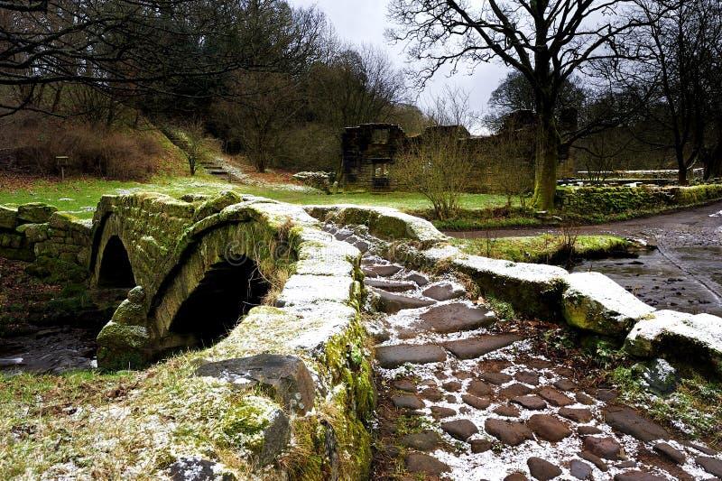 Download Oude Voetgangersbrug stock foto. Afbeelding bestaande uit brug - 29509556