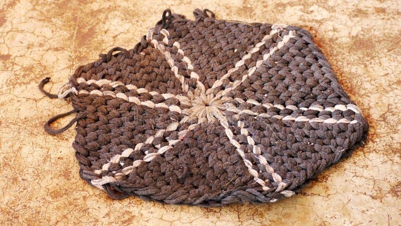 Oude voethanddoek stock foto