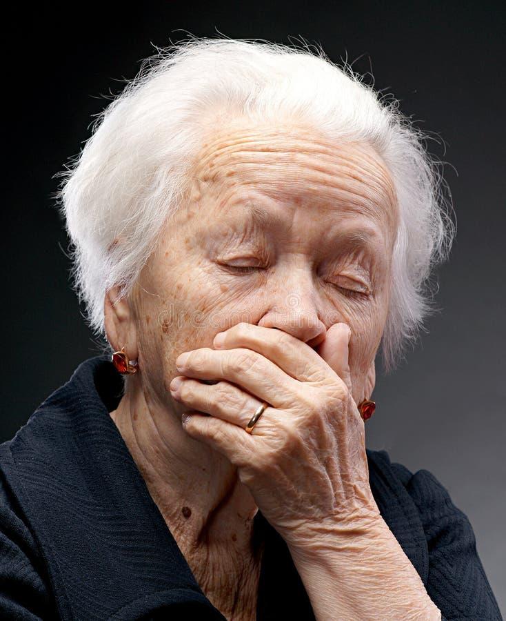Oude vrouw stock fotografie