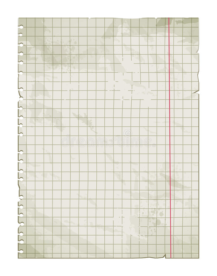 Oude vuile document pagina vector illustratie