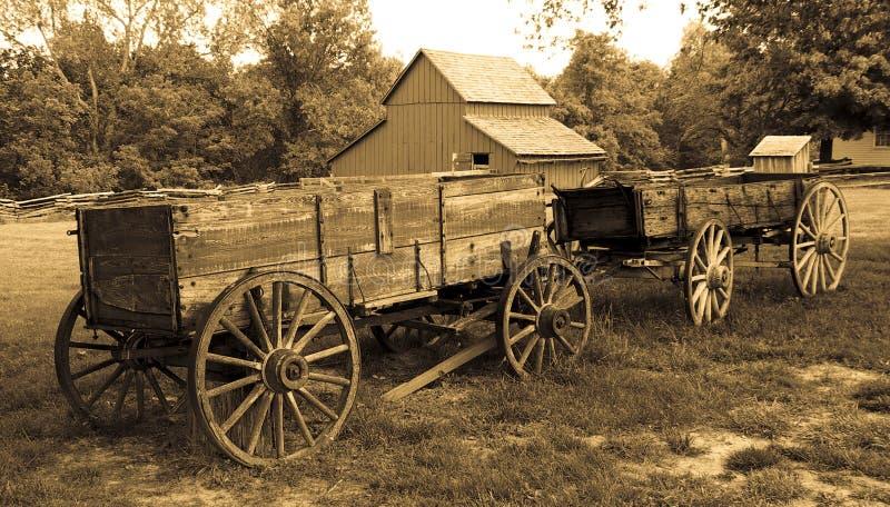 Oude Wagens royalty-vrije stock afbeelding