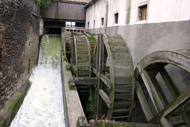 Oude water-molen stock fotografie