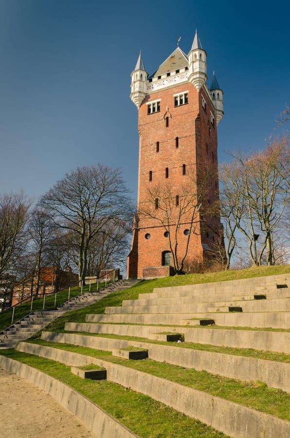 Oude watertoren, Esbjerg, Denemarken stock afbeelding