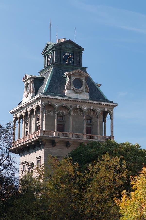 Oude Watertoren in Praag, Tsjechische Republiek royalty-vrije stock afbeelding