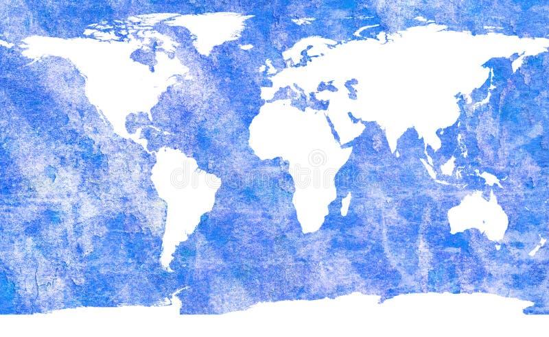 Oude wereldkaart royalty-vrije illustratie