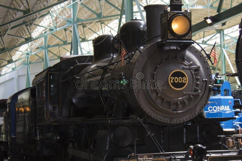 Oude werkende stoom locomovite I strassburg, pa stock afbeelding