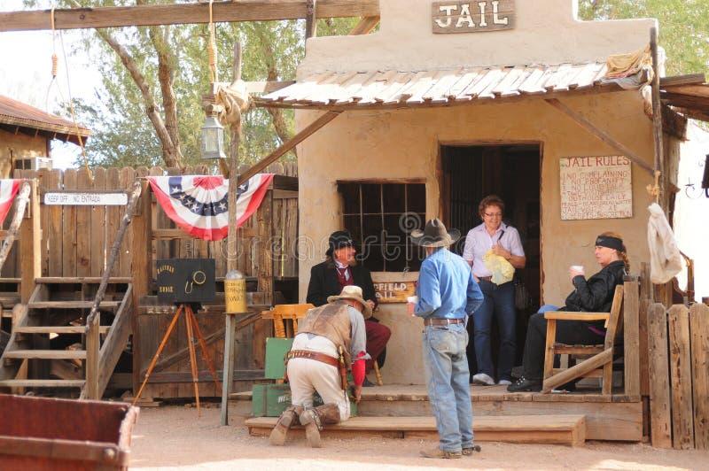 Oude Westelijke Gunfighters stock foto