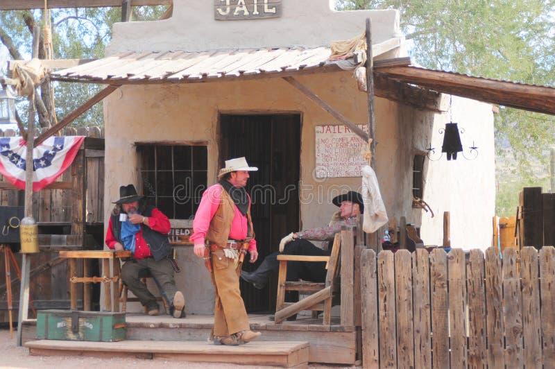 Oude Westelijke Gunfighters stock fotografie