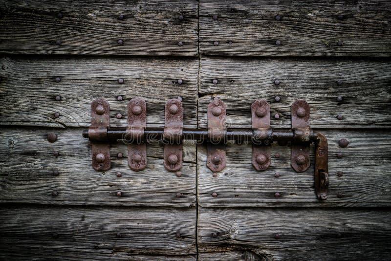 Oude wijnoogst deadbolt Nuttig voor sluitenconcept stock fotografie