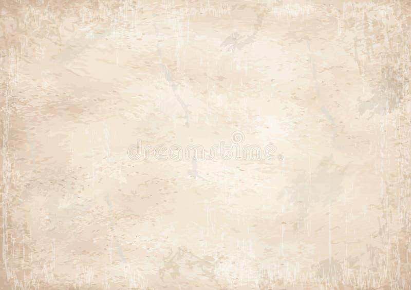 Oude wijnoogst vergeelde document achtergrond vector illustratie afbeelding 48987503 - Wijnoogst ...