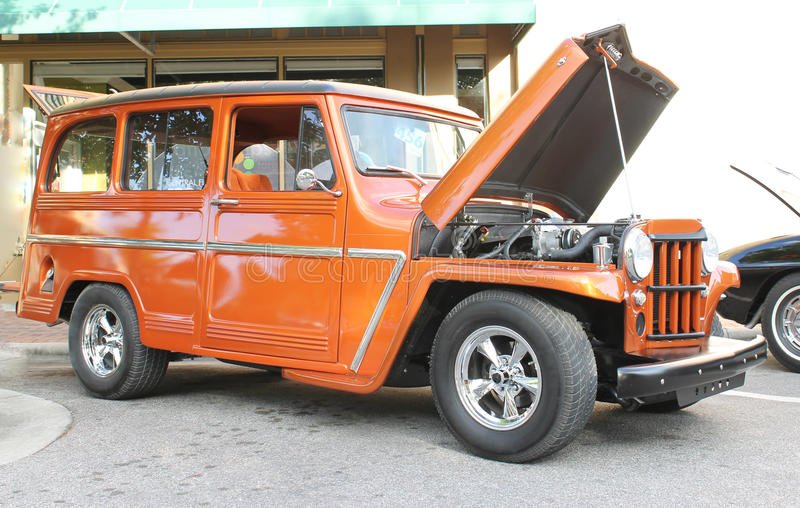 Oude Willys Jeep stock foto's